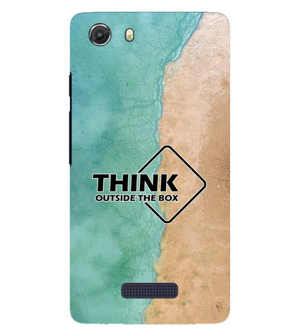 Think Outside The Box Back Cover for Micromax Q372 Unite 3
