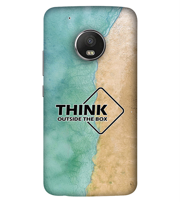 low priced dd6cb 6f097 Think Outside The Box Back Cover for Motorola Moto G5 Plus