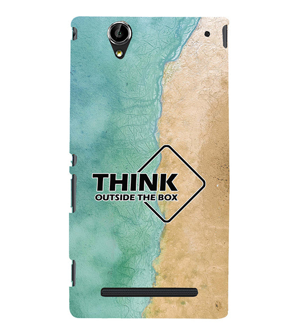 Think Outside The Box Back Cover for Sony Xperia T2