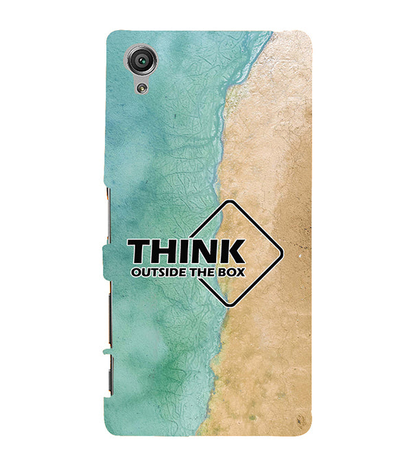 Think Outside The Box Back Cover for Sony Xperia X