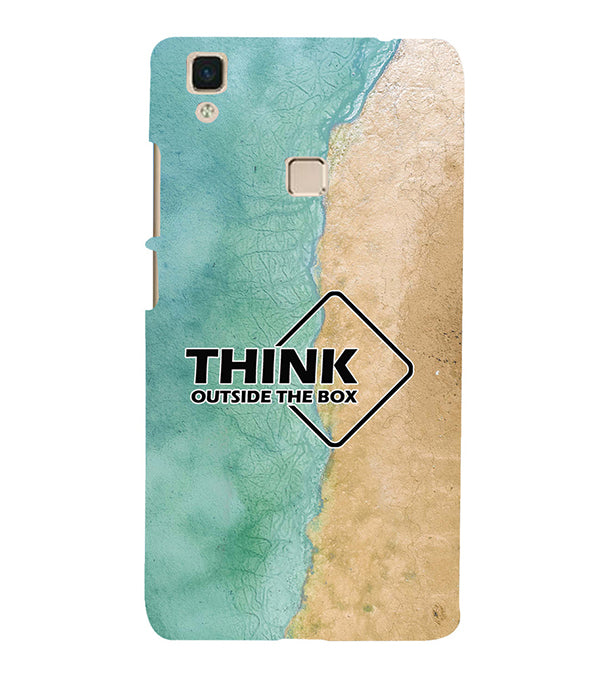 Think Outside The Box Back Cover for Vivo V3Max