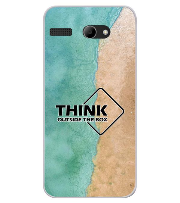 Think Outside The Box Soft Silicone Back Cover for Lava Iris Atom X