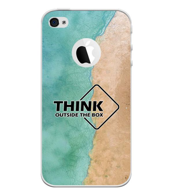 Think Outside The Box Back Cover for Apple iPhone 4 and iPhone 4S (Logo Cut)-Image3