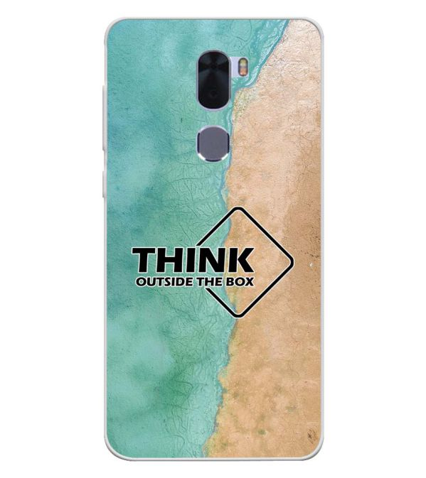 Think Outside The Box Soft Silicone Back Cover for Coolpad Cool 1