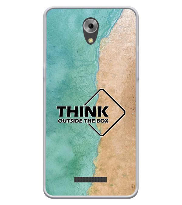 Think Outside The Box Soft Silicone Back Cover for Coolpad Mega 3