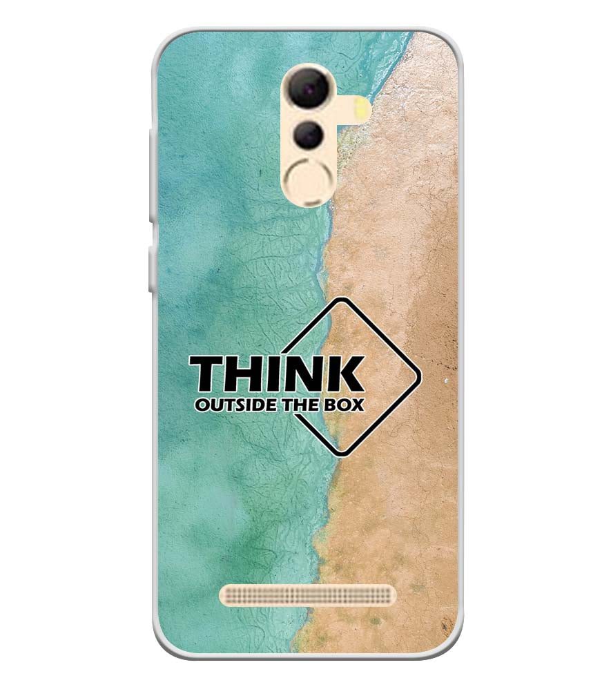 Think Outside The Box Soft Silicone Back Cover for Coolpad Mega 5A