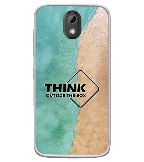 Think Outside The Box Soft Silicone Back Cover for HTC Desire 526