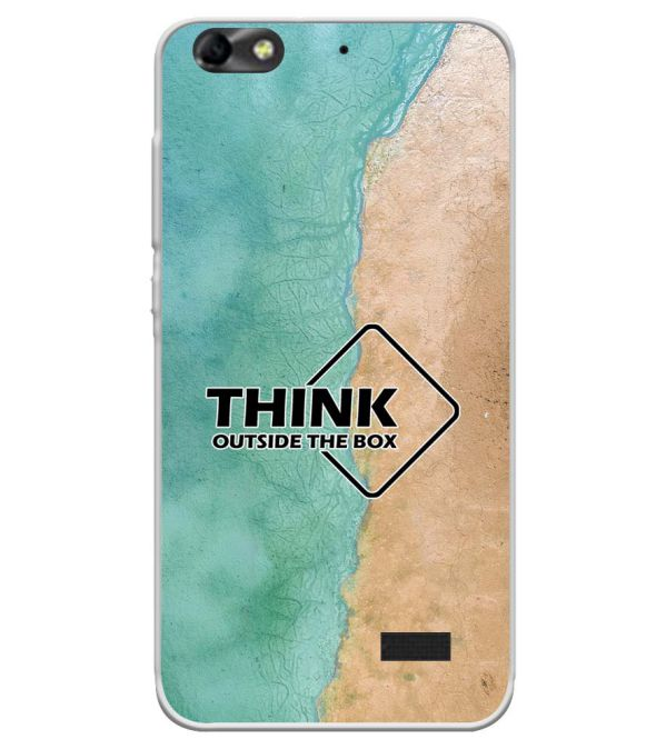 Think Outside The Box Soft Silicone Back Cover for Huawei Honor Bee 4G