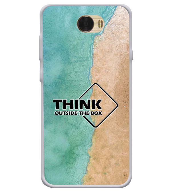 Think Outside The Box Soft Silicone Back Cover for Huawei Honor Bee
