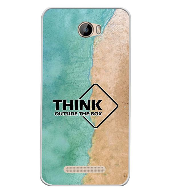Think Outside The Box Soft Silicone Back Cover for Intex Aqua 5.5 VR