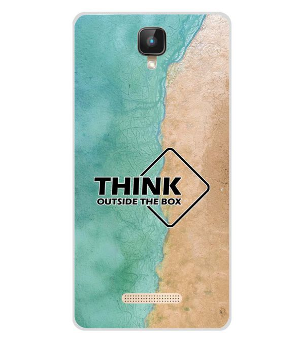 Think Outside The Box Soft Silicone Back Cover for Intex Aqua Lions 2 4G