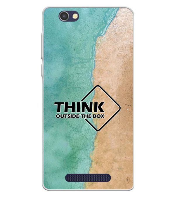 Think Outside The Box Soft Silicone Back Cover for Lava A72
