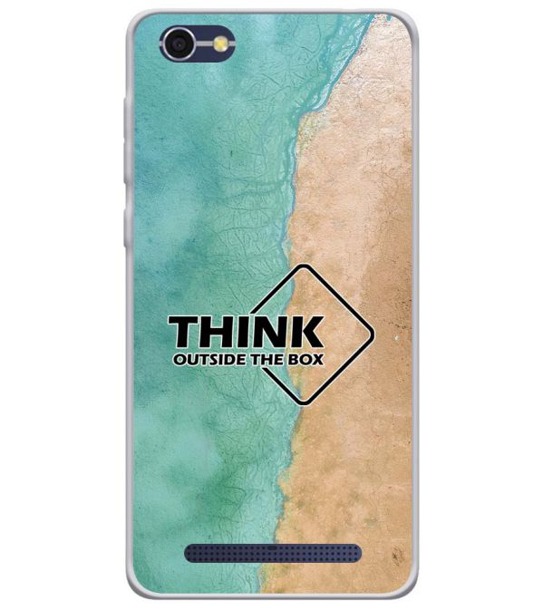 Think Outside The Box Soft Silicone Back Cover for Lava A77