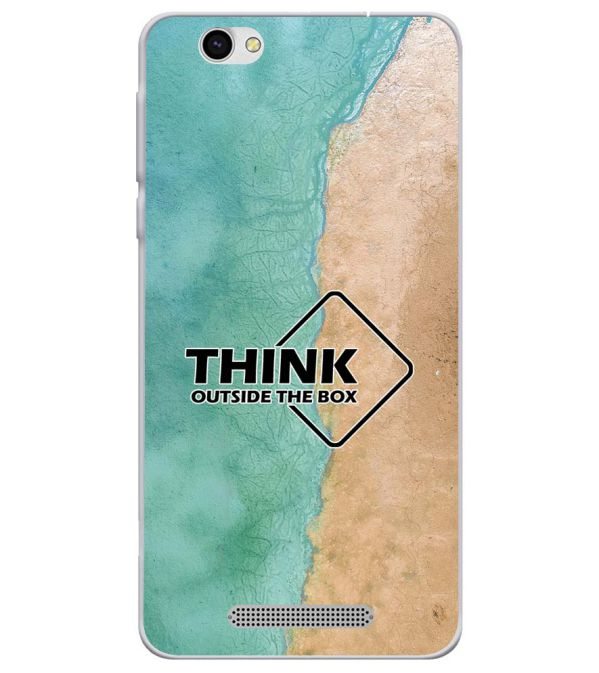 Think Outside The Box Soft Silicone Back Cover for Lava X28