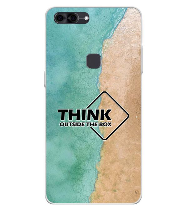 Think Outside The Box Soft Silicone Back Cover for Lava Z90