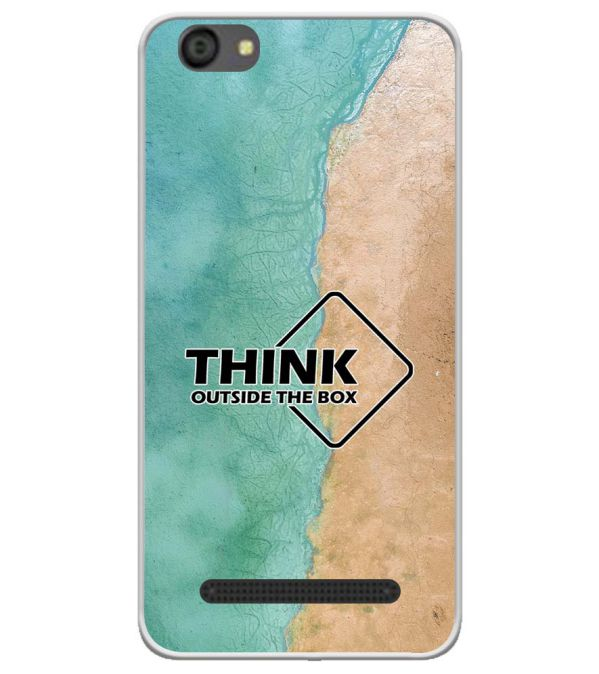 Think Outside The Box Soft Silicone Back Cover for LYF Flame 5