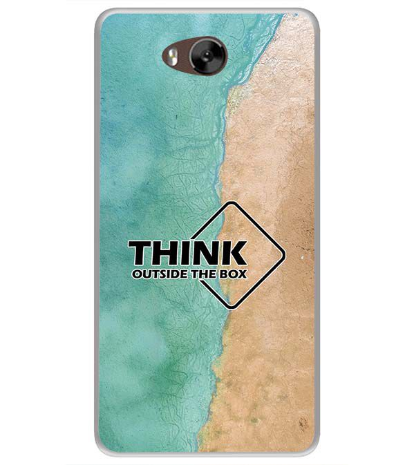 Think Outside The Box Soft Silicone Back Cover for LYF Wind 4s