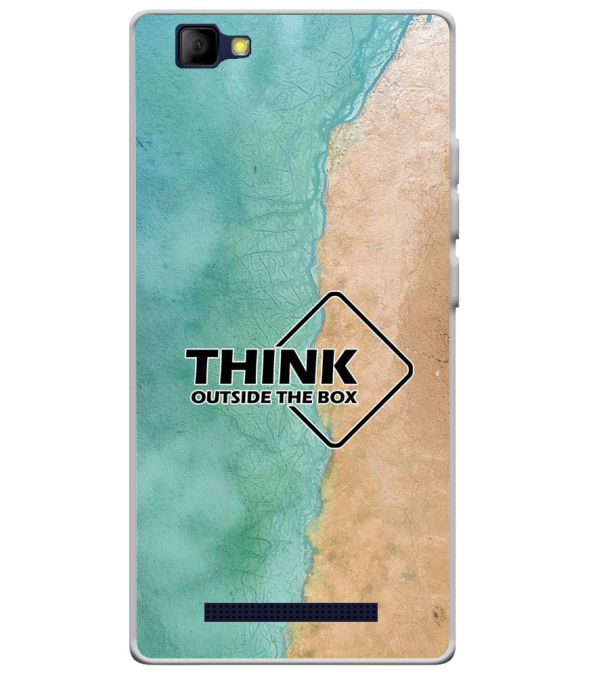 Think Outside The Box Soft Silicone Back Cover for Lyf Wind 7S