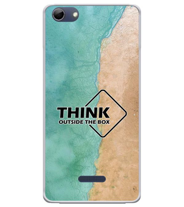 Think Outside The Box Soft Silicone Back Cover for Micromax Selfie 3 Q348