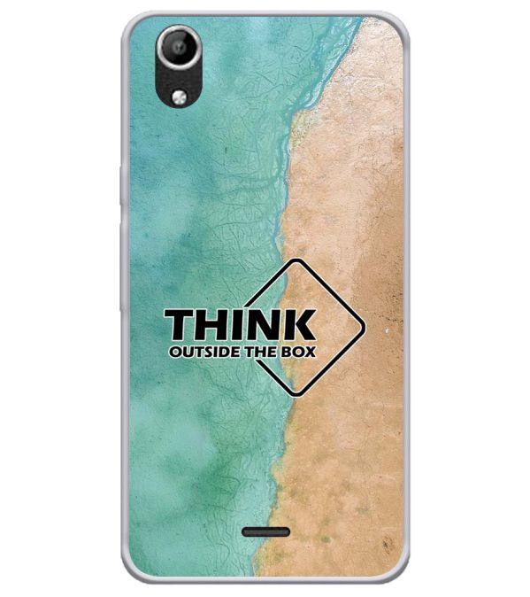 Think Outside The Box Soft Silicone Back Cover for Micromax Selfie Lens Q345