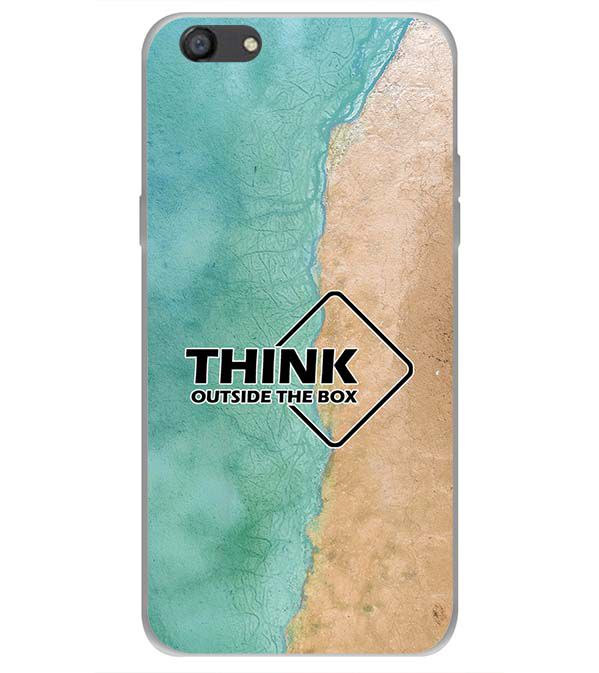 Think Outside The Box Back Cover for Oppo A77