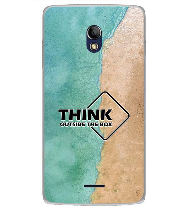 Think Outside The Box Back Cover for Oppo Joy 3 Plus