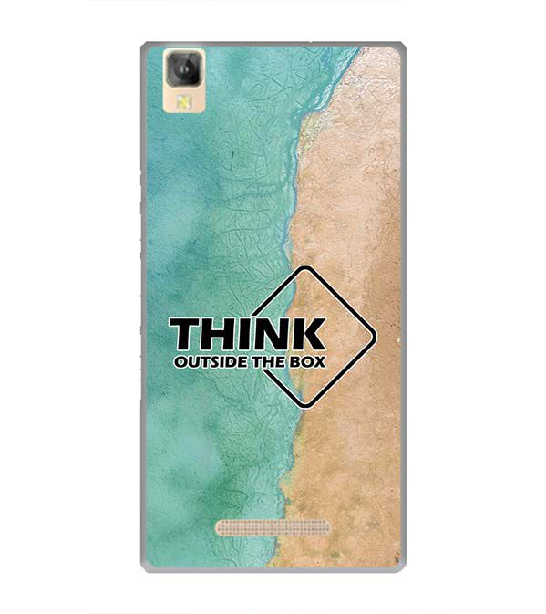 Think Outside The Box Back Cover for Panasonic Eluga A2