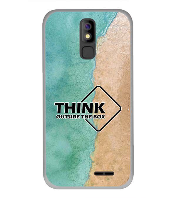 Think Outside The Box Back Cover for Panasonic P100