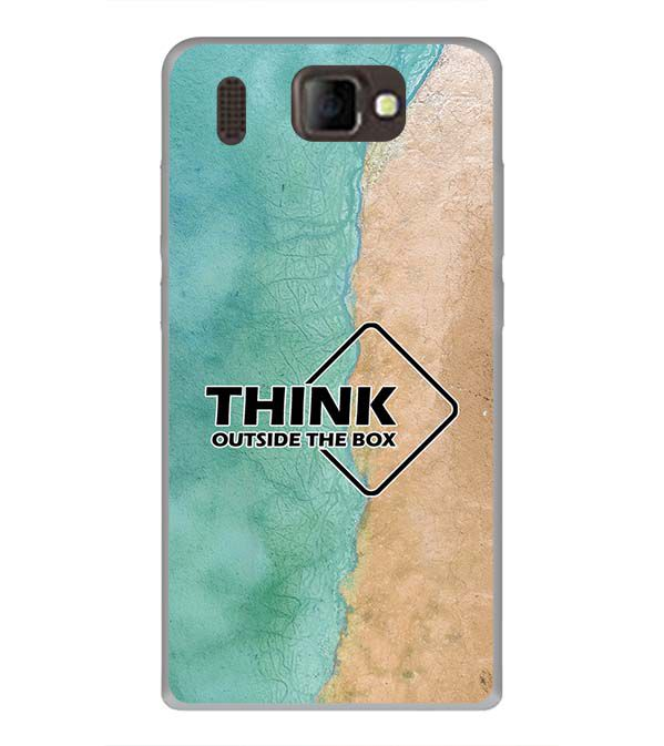 Think Outside The Box Back Cover for Panasonic P66 Mega