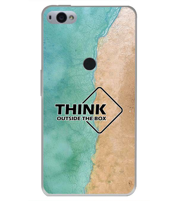 Think Outside The Box Back Cover for Smartron SRT Phone