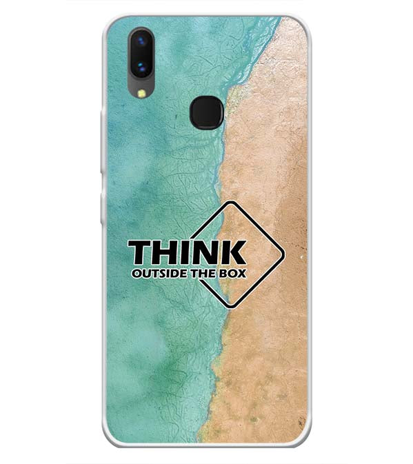 Think Outside The Box Soft Silicone Back Cover for Vivo X21
