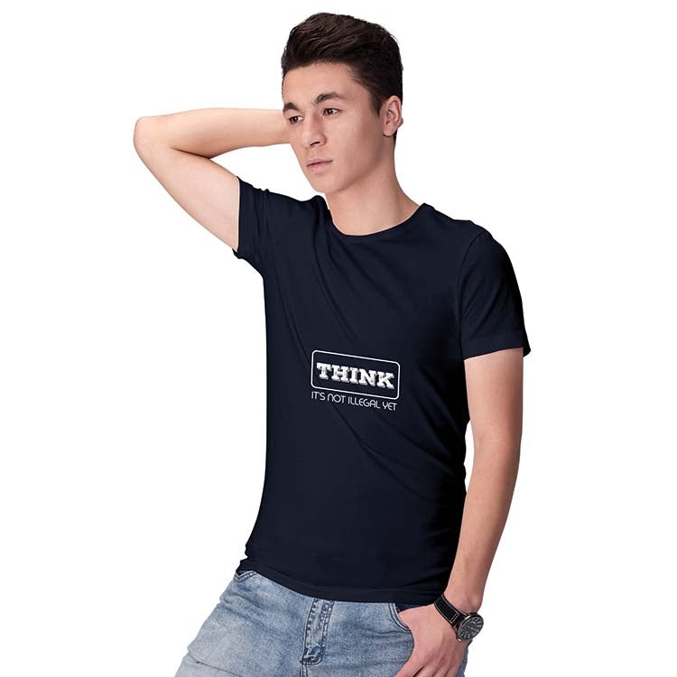 Think Men T-Shirt-Maroon