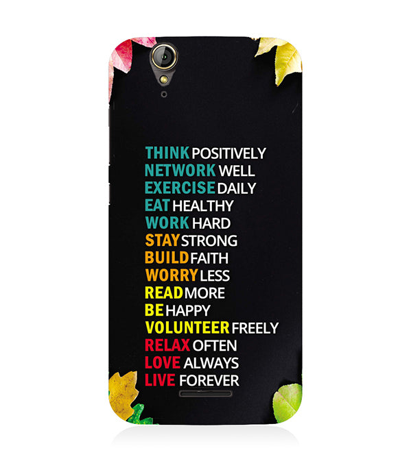 Tips For The Perfect Life Back Cover for Acer Liquid Zade 630