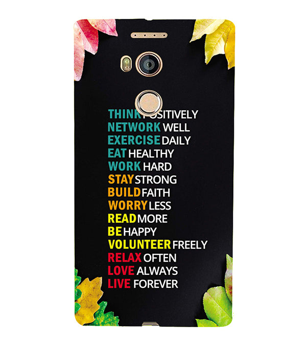 Tips For The Perfect Life Back Cover for Gionee Elife E8