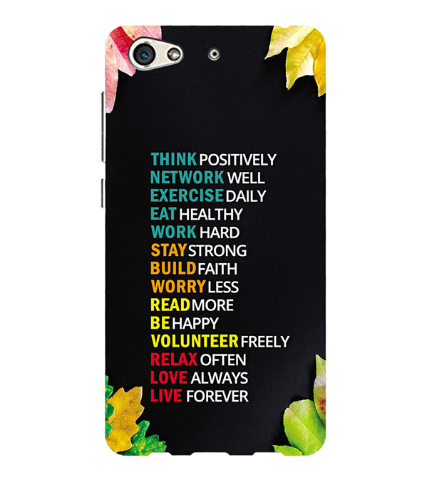 Tips For The Perfect Life Back Cover for Gionee S10