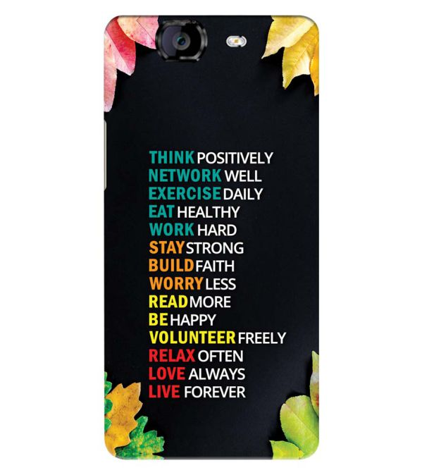 Tips For The Perfect Life Back Cover for Micromax A350 Canvas Knight