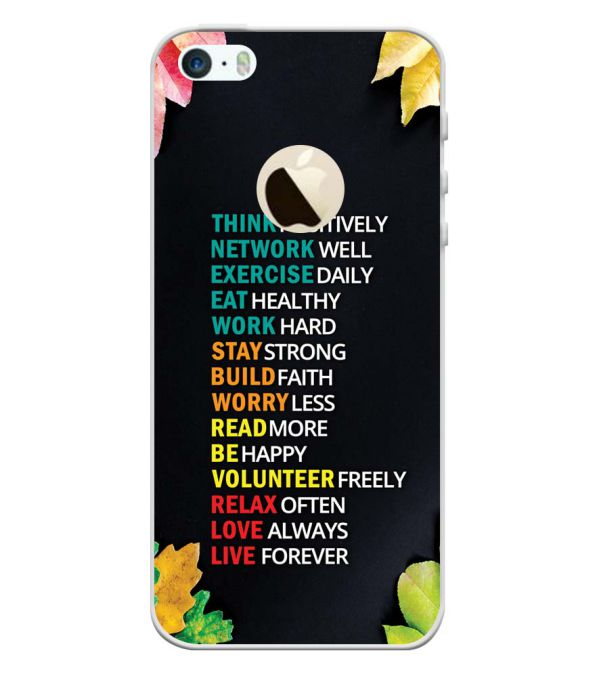 finest selection 960e8 4e77b Buy Apple iPhone 5 and iPhone 5S and iPhone SE (Logo) Back Cover ...