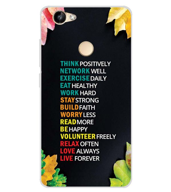 meet 5b55e f7977 Tips For The Perfect Life Soft Silicone Back Cover for Itel Wish A41 Plus