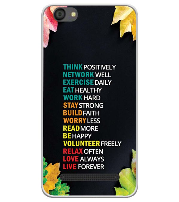Tips For The Perfect Life Soft Silicone Back Cover for LYF Flame 5