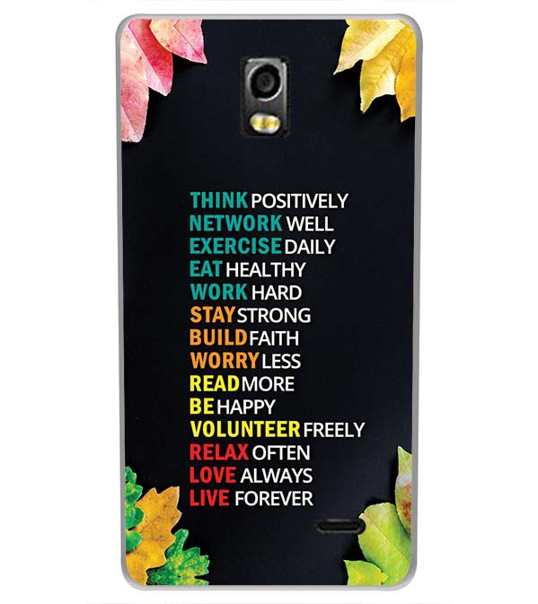 huge selection of a0f45 705de Tips For The Perfect Life Back Cover for LYF Water 10
