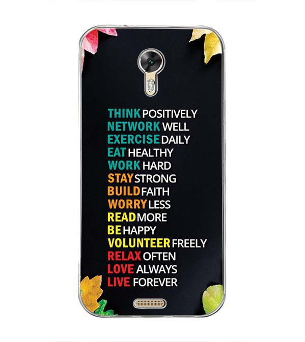 new styles 702fb 8c563 Tips For The Perfect Life Back Cover for Panasonic Eluga A3 Pro