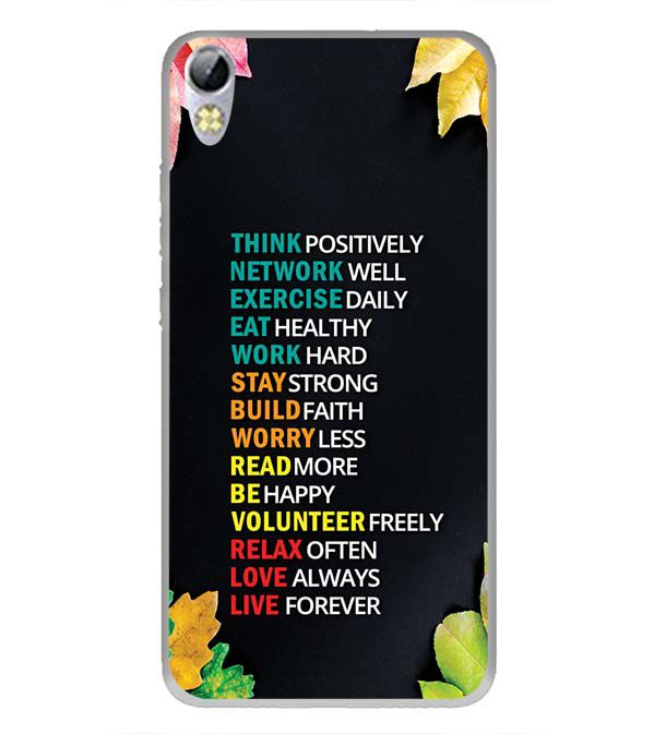 huge selection of e8604 0ca30 Tips For The Perfect Life Back Cover for Tecno I3 Pro
