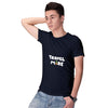 Travel More Men T-Shirt-Navy Blue