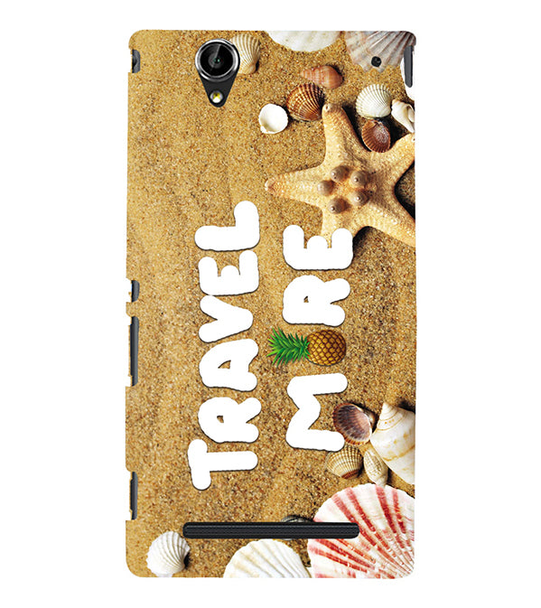 Travel More Back Cover for Sony Xperia T2