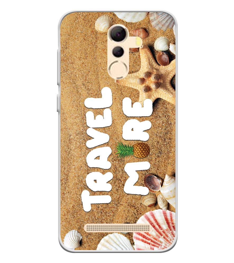 Travel More Soft Silicone Back Cover for Coolpad Mega 5A