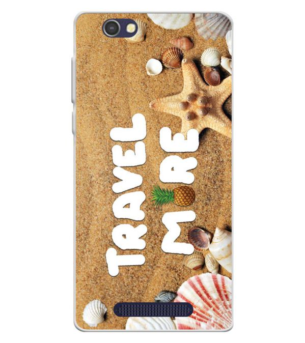 Travel More Soft Silicone Back Cover for Lava A72
