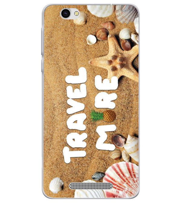 Travel More Soft Silicone Back Cover for Lava X28