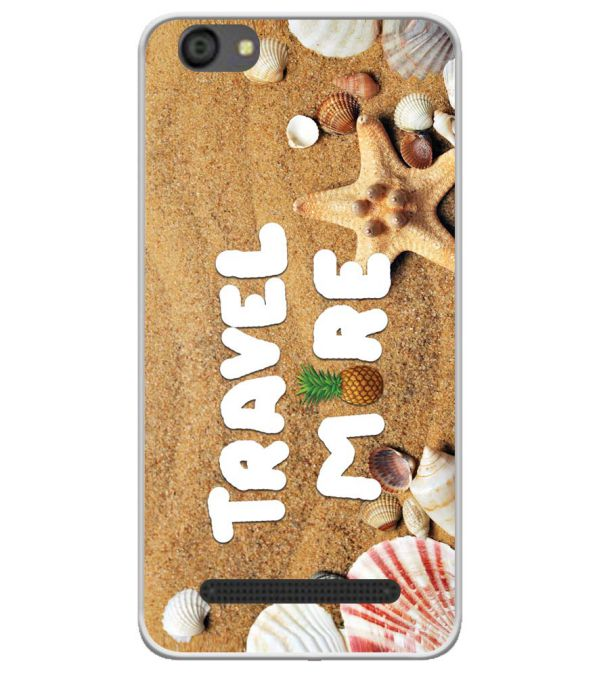 Travel More Soft Silicone Back Cover for LYF Flame 5
