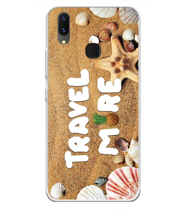 Travel More Soft Silicone Back Cover for Vivo X21