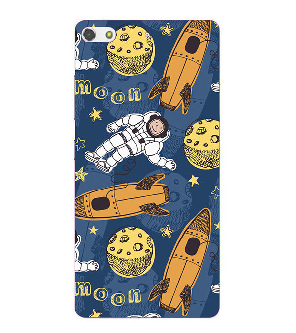 Travel To Moon Back Cover for Gionee Elife S7